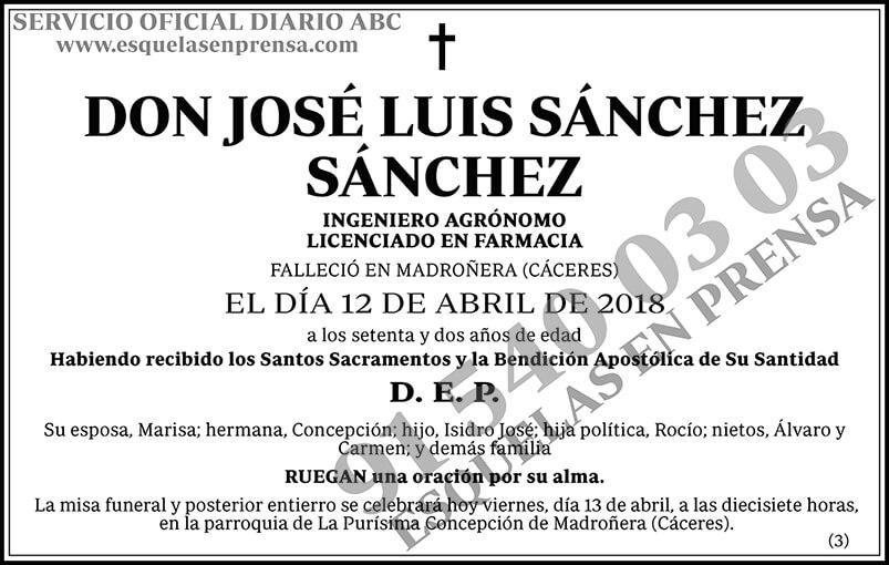 José Luis Sánchez Sánchez